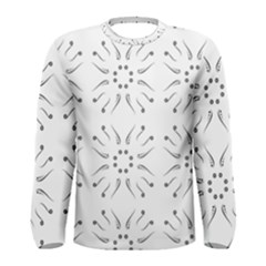 Squid Flower Floral Polka Dots Sunflower Men s Long Sleeve Tee by Mariart