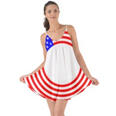 Stars Stripes Circle Red Blue Love The Sun Cover Up