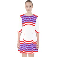 Stars Stripes Circle Red Blue Space Round Pocket Dress