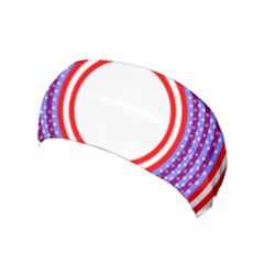 Stars Stripes Circle Red Blue Space Round Yoga Headband by Mariart