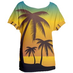Sunset Summer Women s Oversized Tee by Mariart