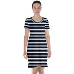 Tribal Stripes Black White Short Sleeve Nightdress by Mariart