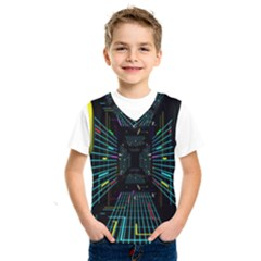 Seamless 3d Animation Digital Futuristic Tunnel Path Color Changing Geometric Electrical Line Zoomin Kids  Sportswear