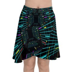 Seamless 3d Animation Digital Futuristic Tunnel Path Color Changing Geometric Electrical Line Zoomin Chiffon Wrap