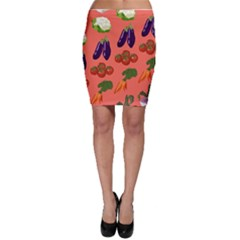 Vegetable Carrot Tomato Pumpkin Eggplant Bodycon Skirt by Mariart
