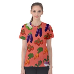 Vegetable Carrot Tomato Pumpkin Eggplant Women s Cotton Tee by Mariart
