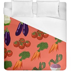 Vegetable Carrot Tomato Pumpkin Eggplant Duvet Cover (king Size) by Mariart