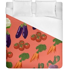 Vegetable Carrot Tomato Pumpkin Eggplant Duvet Cover (california King Size) by Mariart