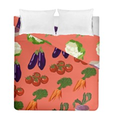 Vegetable Carrot Tomato Pumpkin Eggplant Duvet Cover Double Side (full/ Double Size) by Mariart