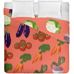 Vegetable Carrot Tomato Pumpkin Eggplant Duvet Cover Double Side (king Size) by Mariart