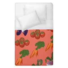 Vegetable Carrot Tomato Pumpkin Eggplant Duvet Cover (single Size) by Mariart