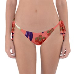 Vegetable Carrot Tomato Pumpkin Eggplant Reversible Bikini Bottom by Mariart