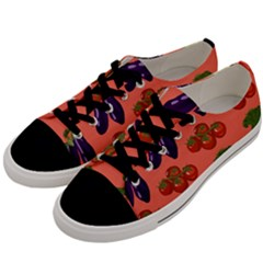 Vegetable Carrot Tomato Pumpkin Eggplant Men s Low Top Canvas Sneakers by Mariart
