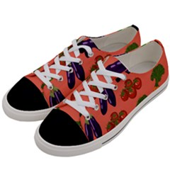 Vegetable Carrot Tomato Pumpkin Eggplant Women s Low Top Canvas Sneakers by Mariart