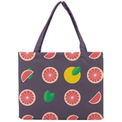 Wild Textures Grapefruits Pattern Lime Orange Mini Tote Bag