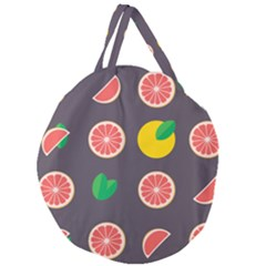 Wild Textures Grapefruits Pattern Lime Orange Giant Round Zipper Tote by Mariart
