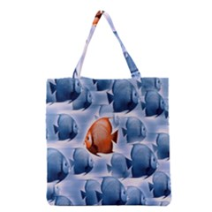 Swim Fish Grocery Tote Bag by Mariart