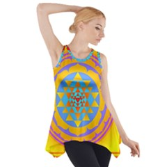 Triangle Orange Pink Side Drop Tank Tunic by Mariart