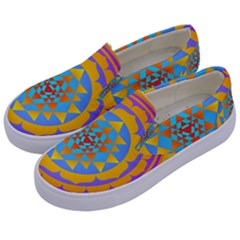 Triangle Orange Pink Kids  Canvas Slip Ons by Mariart