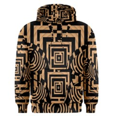 Wooden Cat Face Line Arrow Mask Plaid Men s Pullover Hoodie by Mariart