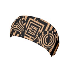 Wooden Cat Face Line Arrow Mask Plaid Yoga Headband