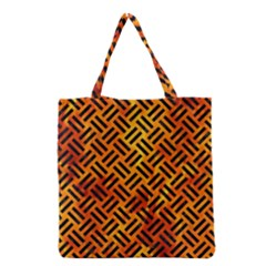 Woven2 Black Marble & Fire (r) Grocery Tote Bag by trendistuff