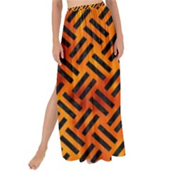 Woven2 Black Marble & Fire (r) Maxi Chiffon Tie Up Sarong