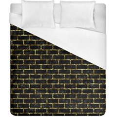 Brick1 Black Marble & Gold Foil Duvet Cover (california King Size) by trendistuff