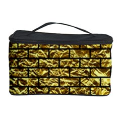 Brick1 Black Marble & Gold Foil (r) Cosmetic Storage Case by trendistuff