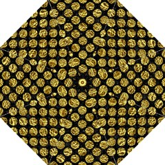 Circles2 Black Marble & Gold Foil Golf Umbrellas by trendistuff