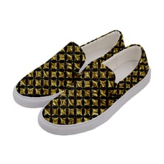Circles3 Black Marble & Gold Foil (r) Women s Canvas Slip Ons by trendistuff