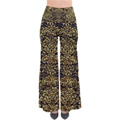 Damask2 Black Marble & Gold Foil Pants by trendistuff