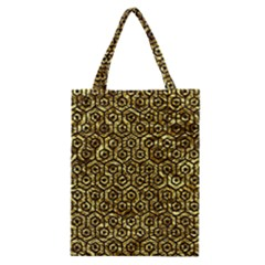 Hexagon1 Black Marble & Gold Foil (r) Classic Tote Bag by trendistuff