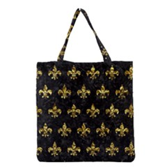 Royal1 Black Marble & Gold Foil (r) Grocery Tote Bag by trendistuff