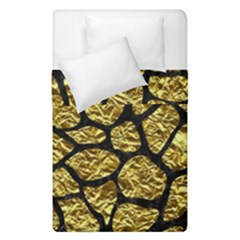 Skin1 Black Marble & Gold Foil Duvet Cover Double Side (single Size) by trendistuff