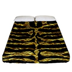 Skin2 Black Marble & Gold Foil Fitted Sheet (king Size) by trendistuff