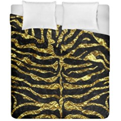 Skin2 Black Marble & Gold Foil Duvet Cover Double Side (california King Size) by trendistuff