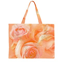 Flower Power, Wonderful Roses, Vintage Design Zipper Large Tote Bag by FantasyWorld7