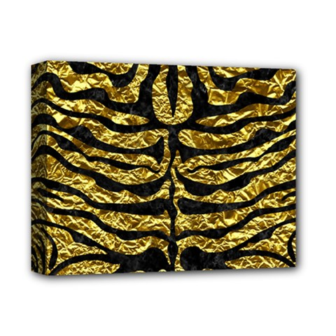 Skin2 Black Marble & Gold Foil (r) Deluxe Canvas 14  X 11  by trendistuff