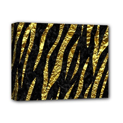 Skin3 Black Marble & Gold Foil Deluxe Canvas 14  X 11  by trendistuff