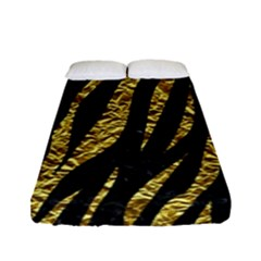 Skin3 Black Marble & Gold Foil Fitted Sheet (full/ Double Size) by trendistuff