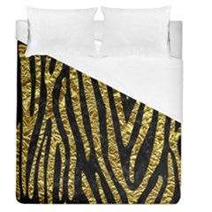Skin4 Black Marble & Gold Foil (r) Duvet Cover (queen Size) by trendistuff