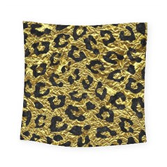 Skin5 Black Marble & Gold Foil Square Tapestry (small) by trendistuff