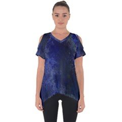 Marbled Structure 4b Cut Out Side Drop Tee