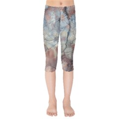 Marbled Structure 5a2 Kids  Capri Leggings  by MoreColorsinLife