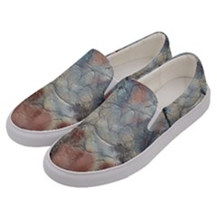 Marbled Structure 5a2 Men s Canvas Slip Ons by MoreColorsinLife