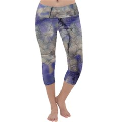 Marbled Structure 5b2 Capri Yoga Leggings by MoreColorsinLife
