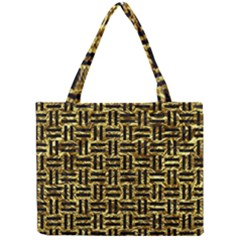 Woven1 Black Marble & Gold Foil (r) Mini Tote Bag by trendistuff