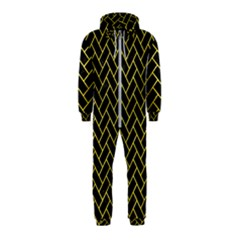 Brick2 Black Marble & Gold Glitter Hooded Jumpsuit (kids) by trendistuff