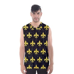 Royal1 Black Marble & Gold Glitter (r) Men s Basketball Tank Top by trendistuff